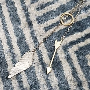 Banana Republic Wing and Arrow Necklace